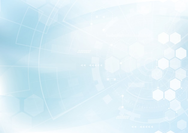 Vetor abstrato design de hexágonos de fundo Vetor Premium