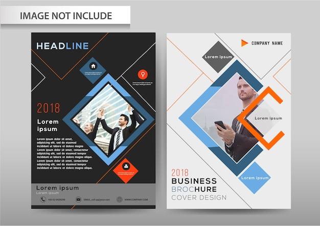 Vetor abstrato fundo brochura flyer modelo a4 tamanho design. Vetor Premium