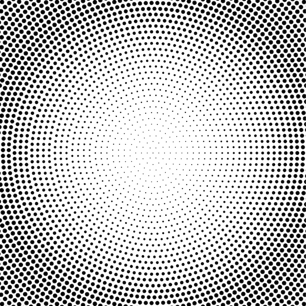 Vetor abstrato preto e branco pontilhado de fundo de meio-tom Vetor Premium