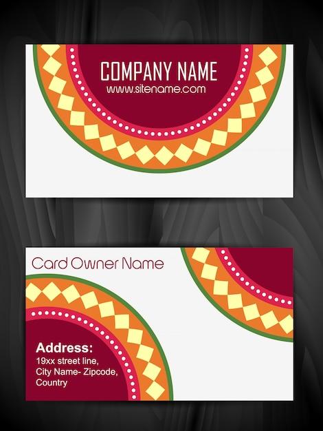 Vetor artístico bonito design de cartão de visita Vetor grátis
