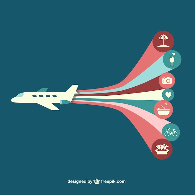 Vetor avião infografia Vetor grátis