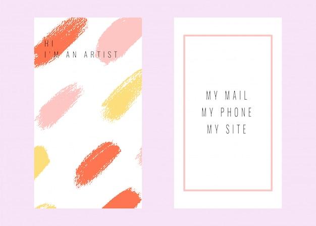 Vetor cartão abstrato com texturas desenhadas mão. Vetor Premium