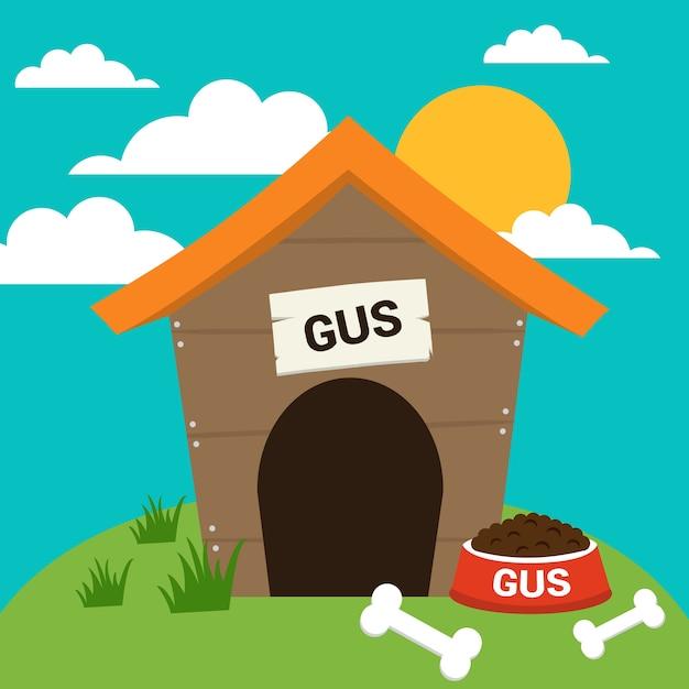Vetor casa de cachorro ilustração livre Vetor grátis
