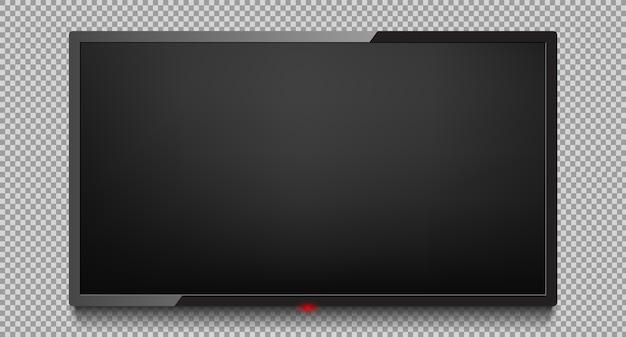 Vetor da tela da tevê 4k. tela de tv lcd ou led Vetor Premium