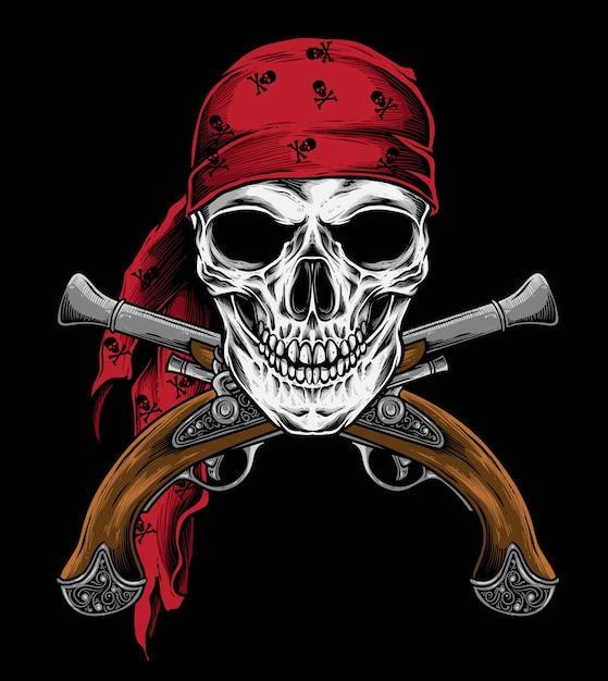 Vetor de arma pirata Vetor Premium