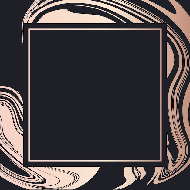 Vetor de arte fluida de quadro dourado fundo de arte fluida de quadro dourado Vetor Premium