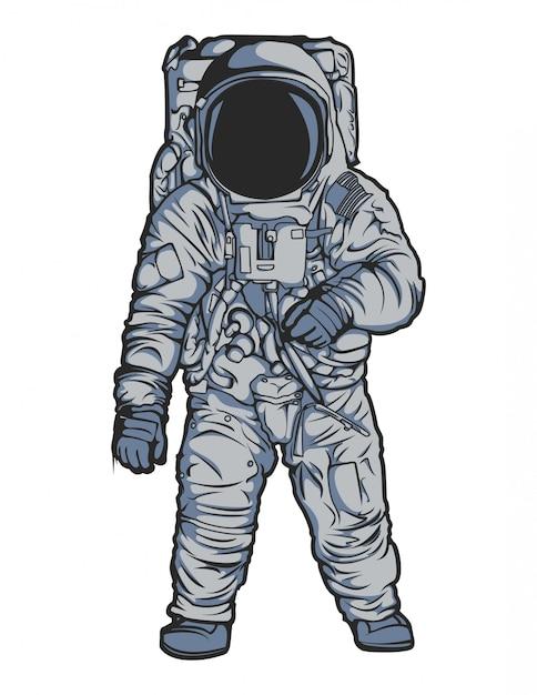 Vetor de astronauta Vetor Premium