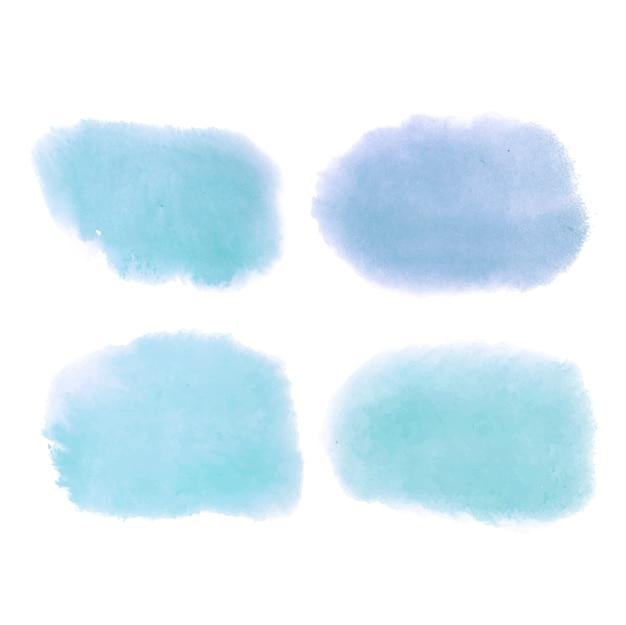 Vetor de banner azul estilo aquarela Vetor grátis