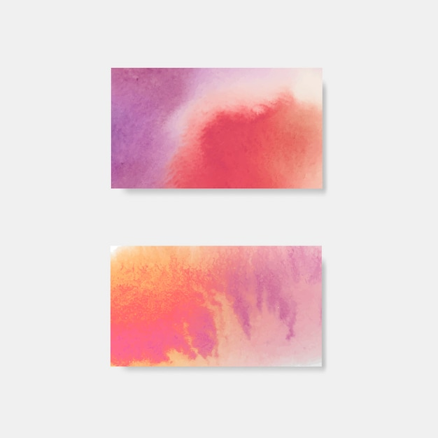 Vetor de banner de estilo aquarela roxo Vetor grátis