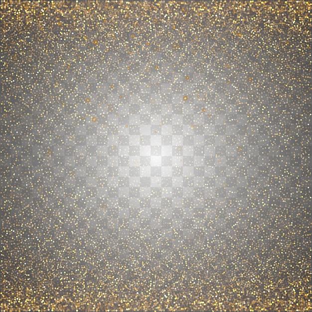 Vetor de brilhos dourados transparentes abstratos Vetor grátis
