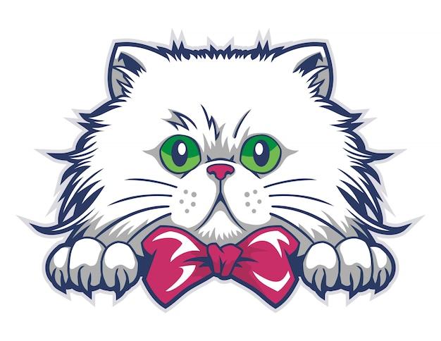 Vetor de caixa de gato engraçado Vetor Premium