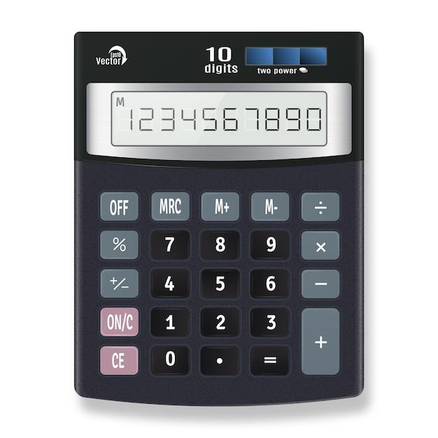 Vetor de calculadora eletrônica Vetor Premium
