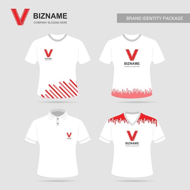 d6748b684f Vetor de camisas de t de design de empresa com logotipo de vídeo ...