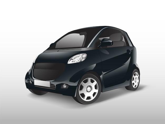 Vetor de carro híbrido compacto preto Vetor grátis