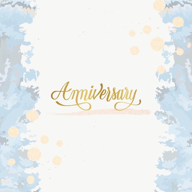 Vetor de cartão de aniversário de casamento pastel Vetor grátis