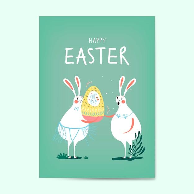 Vetor de cartão de celebração de páscoa Vetor grátis