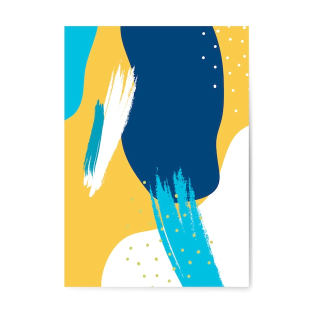 Vetor de cartaz colorido estilo memphis Vetor grátis