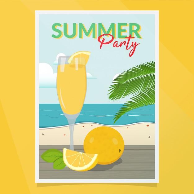 Vetor de cartaz de festa de verão Vetor Premium