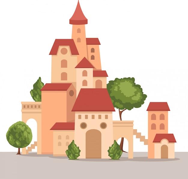 Vetor de castelo Vetor Premium