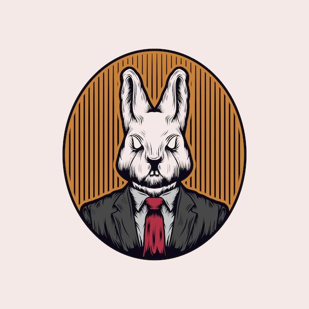 Vetor de coelho do chefe Vetor Premium