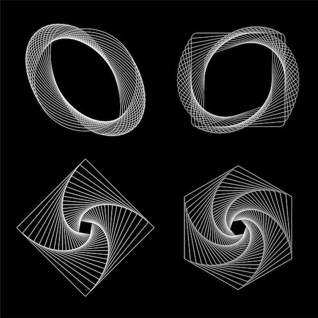 Vetor de conjunto de elementos geométricos abstratos Vetor grátis
