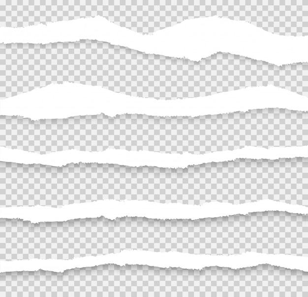 Vetor de conjunto de papel rasgado, em camadas Vetor Premium