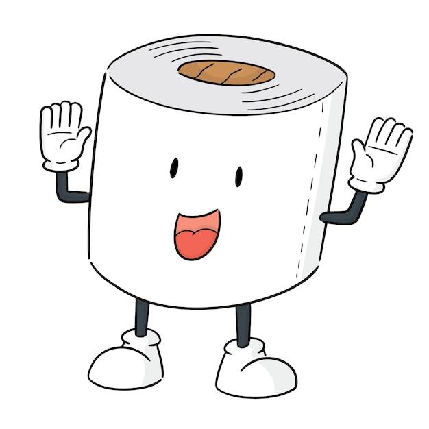 Vetor de desenhos animados de papel tissue Vetor Premium