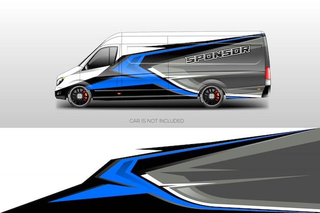 Vetor de desenhos de envoltório de carro Vetor Premium