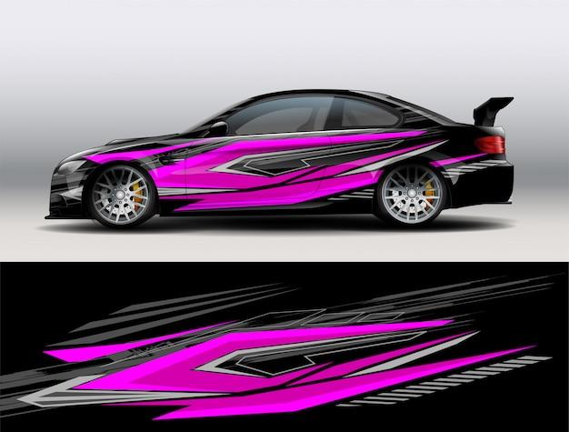 Vetor de design de carro de corrida Vetor Premium