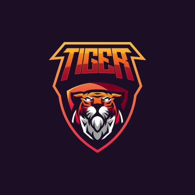 Vetor de design de distintivo de tigre Vetor Premium