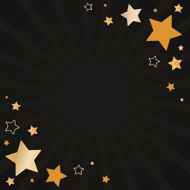 Vetor de design de fundo de estrelas festivas Vetor grátis