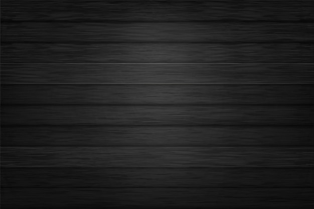 Vetor de design de fundo de textura de madeira preta Vetor Premium