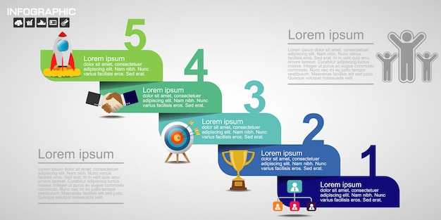 Vetor de design de infográfico e marketing. Vetor Premium