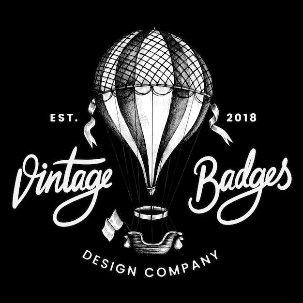 Vetor de design de logotipo de balão vintage Vetor grátis