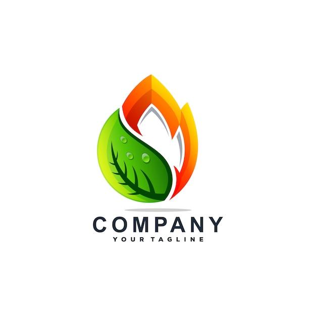 Vetor de design de logotipo de gota de água incrível Vetor Premium