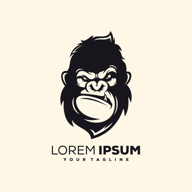 Vetor de design de logotipo de macaco impressionante Vetor Premium