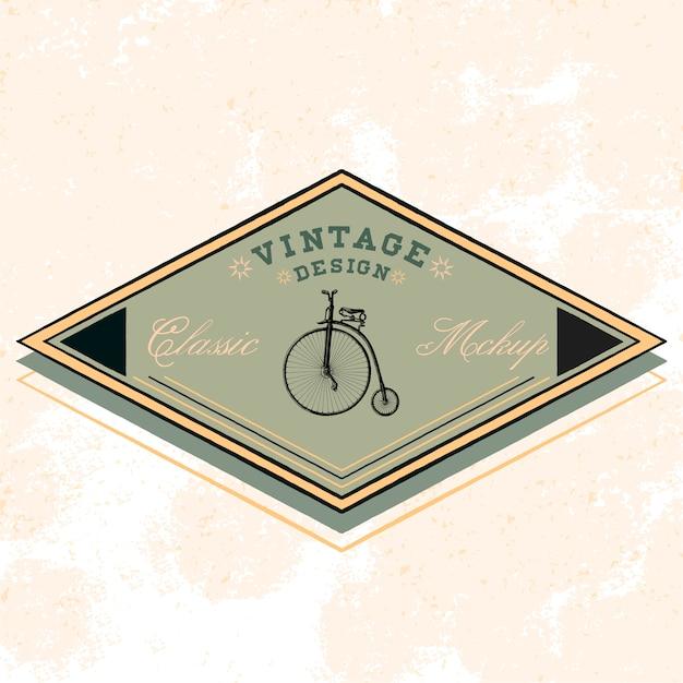 Vetor de design de logotipo de maquete clássico Vetor grátis