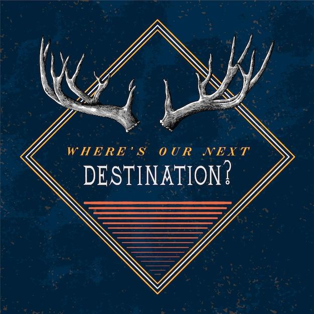 Vetor de design de logotipo de viagens de destino Vetor grátis