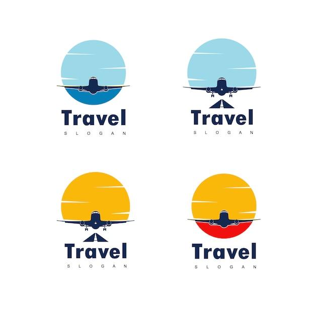 Vetor de design de logotipo de viagens Vetor Premium