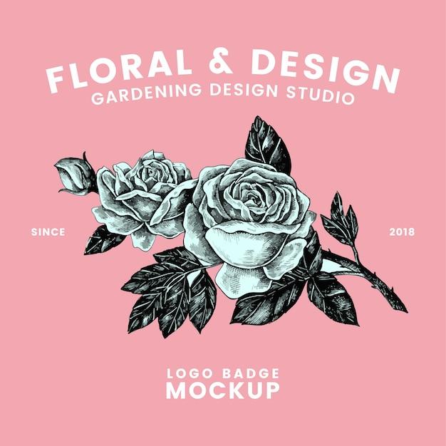 Vetor de design de logotipo floral e jardinagem Vetor grátis