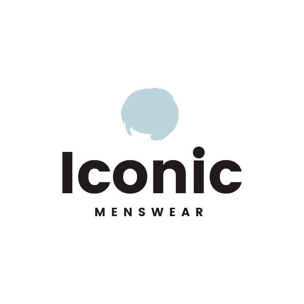 Vetor de design de logotipo masculino icônico Vetor grátis