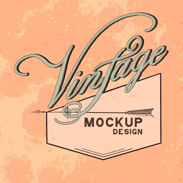 Vetor de design de logotipo vintage maquete Vetor grátis