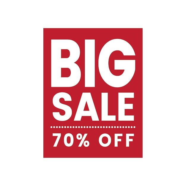 Vetor de distintivo de venda de 70% de desconto Vetor grátis