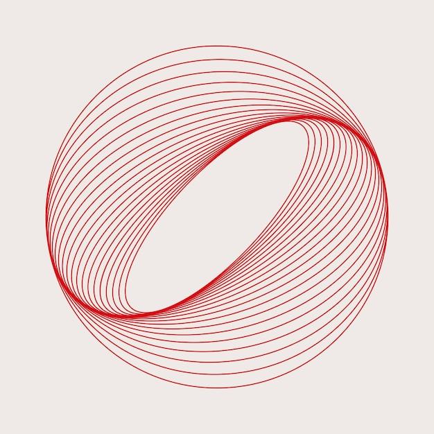 Vetor de elemento geométrico circular abstrato Vetor grátis
