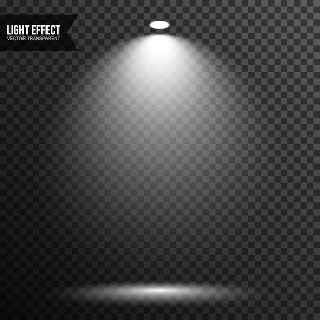 Vetor de estágio de iluminação de luz spot transparente Vetor Premium