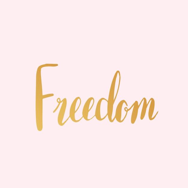 Vetor de estilo de tipografia de palavra liberdade Vetor grátis