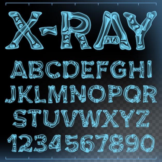 Vetor de fonte de raio-x Vetor Premium