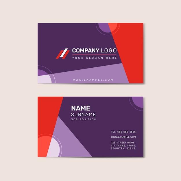 Vetor de frente e verso de modelo de cartão de visita Vetor grátis
