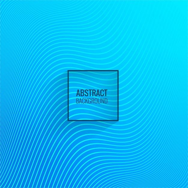 Vetor de fundo abstrato onda azul linha Vetor grátis