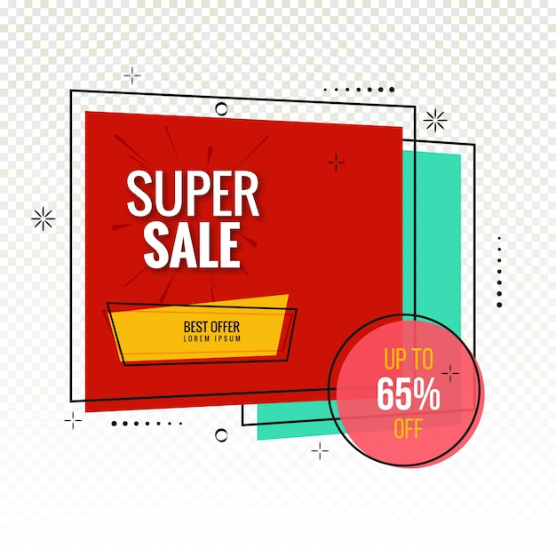 Vetor de fundo colorido moderno super venda Vetor Premium